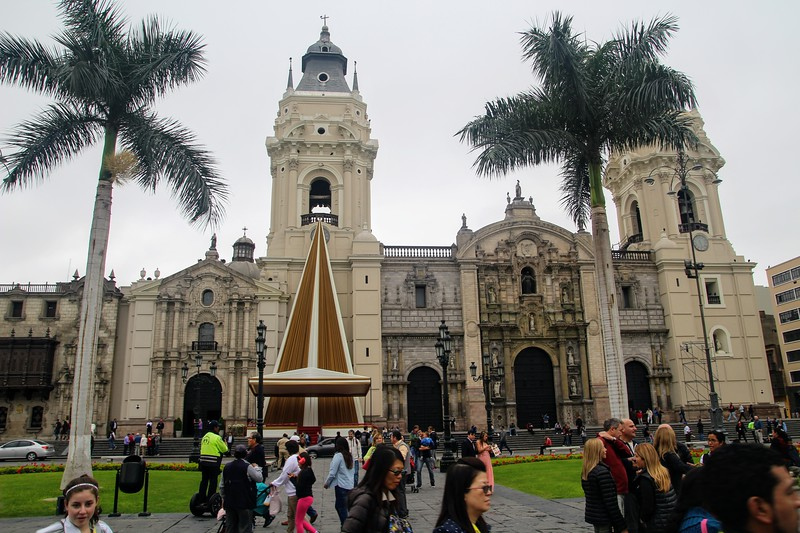 Cathedral on the main square in Lima