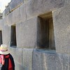 Trapezoidal niches in the sun temple at Ollantaytambo