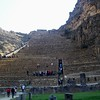 Ollantaytambo  ruins with sun temple at the top