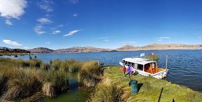 After 8 long hours drive finally we reached Puno, starting of lake titicaca (pano shot)