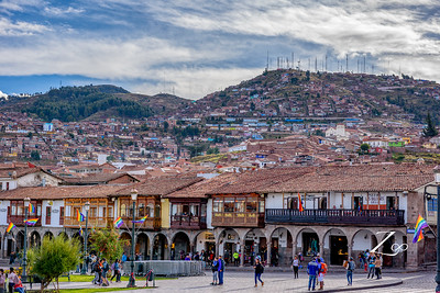 hill view from the cusco downtown