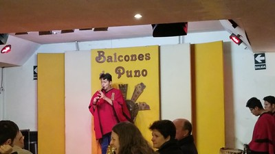 amazing pan flute live music at a restaurant at Puno