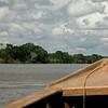 Ten miles downriver to the Inketerra eco-lodge.