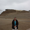 Susan at the Huaca de la Luna near Trujillo on the northern coast, one of the largest Moche sites.
