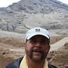 Dick in front of the Cerro Blanco.