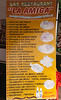 La oferta del restaurante/hueco - La Amiga - Av. Las Palmeras - Pimentel - Lambayeque - Peru<br /> <br /> What this shack offers - La Amiga - Av. Las Palmeras - Pimentel - Lambayeque - Peru<br /> <br /> Het aanbod in deze vreetschuur - La Amiga - Av. Las Palmeras - Pimentel - Lambayeque - Peru<br /> <br /> Les propositions culinaires de la case - La Amiga - Av. Las Palmeras - Pimentel - Lambayeque - Pérou