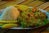 Filete en salsa de langostinos (20 S/ - 5 €) en La Perla del Chira - Los Órganos - Talara - Piura<br /> <br /> Fish fillet in shrimp sauce (20 S/. - 7,4 $ - 5 €) @ La Perla del Chira - Los Órganos - Talara - Piura <br /> <br /> Visfilet met garnalensaus (5 €) in La Perla del Chira - Los Órganos - Talara - Piura <br /> <br /> Filet de poisson dans sauce de crevettes (5 €) à La Perla del Chira - Los Órganos - Talara - Piura