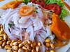 Ceviche de pescado (14 S/. - 5,2 $ - €) - Restaurante Mucho Gusto - Los Órganos - Talara - Piura