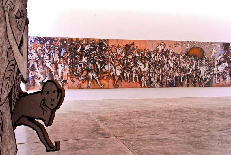 """Gerardo Chávez (Perú - °1937): """"La Procesión de la Papa""""<br /> Museo de Arte Moderno Gerardo Chávez - Trujillo - La Libertad - Perú"""