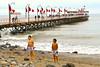 The pier in Huanchaco, the seaside resort of choice for the residents of Trujillo and surfers from around the world.<br /> <br /> El muelle de Huanchaco, el balneario elegido por los habitantes de Trujillo y tablistas del mundo entero.<br /> <br /> De pier van Huanchaco, de badstad bij uitstek voor de inwoners van Trujillo en surfers van heel de wereld. <br /> <br /> La jetée de Huanchaco, la station balnéaire de prédilection pour les habitants de Trujillo et les surfeurs du monde entier.