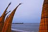 Huanchaco: drying caballitos de mar and the ancient traditional pier at dusk on a Sunday<br /> <br /> Huanchaco: caballitos de mar secando y el muelle artesanal un domingo a fines de la tarde<br /> <br /> Huanchaco: drogende caballitos de mar en de oude artisanale pier bij valavond op een zondag.<br /> <br /> Huanchaco: caballitos de mar sèchant et de la jetée artisanale au crépuscule un dimanche.
