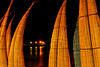 Huanchaco: drying caballitos de mar and the ancient traditional pier at night on a Sunday<br /> <br /> Huanchaco: caballitos de mar secando y el muelle artesanal un domingo en la noche<br /> <br /> Huanchaco: drogende caballitos de mar en de oude artisanale pier 's avonds op een zondag.<br /> <br /> Huanchaco: caballitos de mar sèchant et de la jetée artisanale un dimanche en soirée