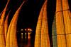 Huanchaco: drying caballitos de mar and the ancient traditional pier at night on a Sunday<br /> <br /> Huanchaco: caballitos de mar secando y el muelle artesanal un domingo en la noche<br /> <br /> Huanchaco: drogende caballitos de mar en de oude artisanale pier 's avonds op een zondag.<br /> <br /> Huanchaco: caballitos de mar sèchant et de la jetée artisanale un dimanche en soirée