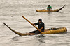 Local fishermen on their caballito de totora, an ancient way to go fishing.<br /> <br /> Pescadores locales en sus caballitos de totora, una forma antigua de ir a pescar.<br /> <br /> Plaatselijke vissers op hun caballito de totora, een eeuwenoude manier om te gaan vissen. <br /> <br /> Pêcheurs locaux sur leurs caballito de totora, une ancienne manière d'aller pêcher.