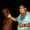 (Photo 0140)  Paul explains the ways of the Yagua Tribe.