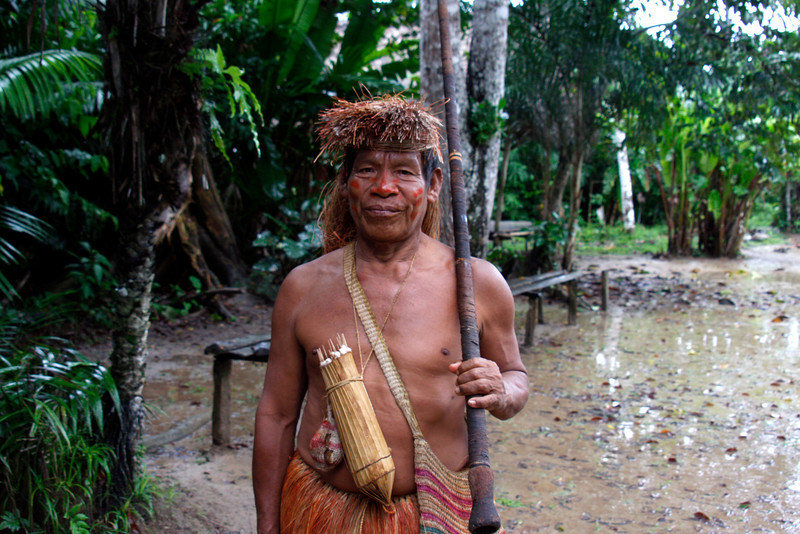 (Photo 0138)  It's time for a cultural connection with the Yagua Tribe.