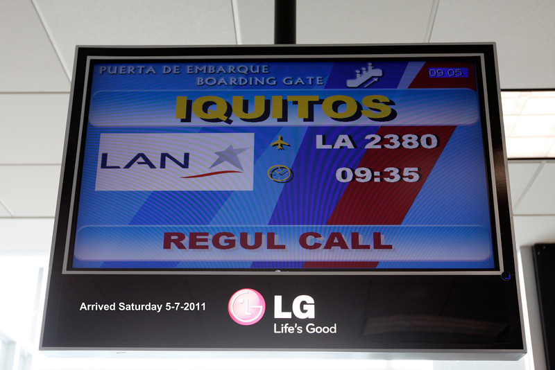 (Photo 0001) We flew from Chicago to Miami to Lima, Peru to Iquitos, Peru and onto the Amazon.