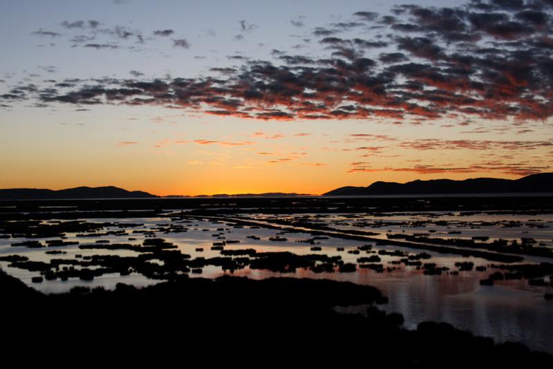 (Photo 0796)   Sunrise in Puno, Peru (Lake Titicaca)