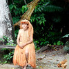 (Photo 0157)  The chief of the Yagua tribe watches on.
