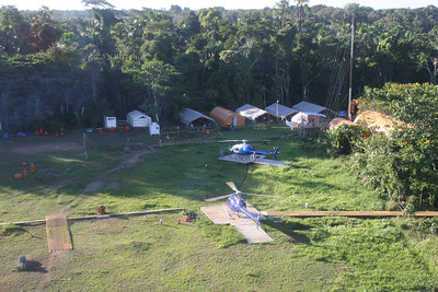 heliport at Proviencia camp