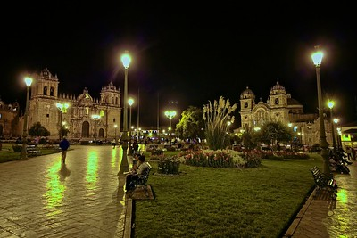 Peru-Land of the Incas | Night at the Plaza de Arma, City Center of Cusco, Peru