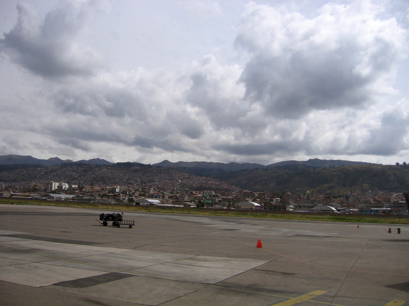 Our initial view of Cusco as we stepped off the airplane.  I'm not in flat Florida anymore.  I'm also definitely no longer at sea level...
