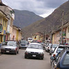 The bustling main drag in Pisac.
