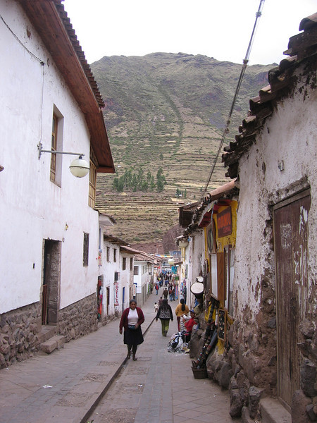 Winding our way through the side streets to find the famous market.