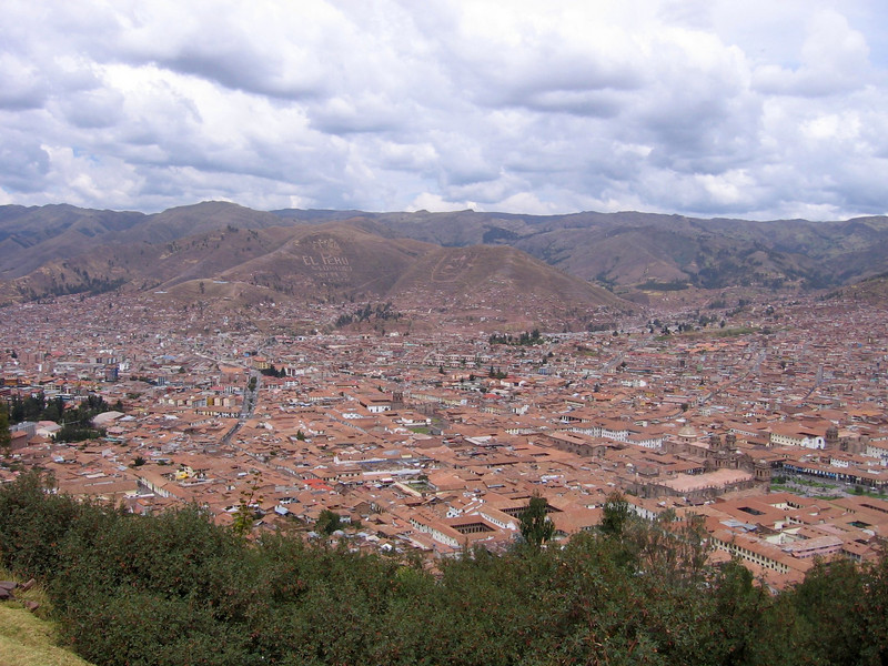 Views of Cusco from up near the Cristo Blanco.