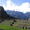 Panorama mosaic of Wayna Picchu and the Houses of Factories (Industrial Sector).