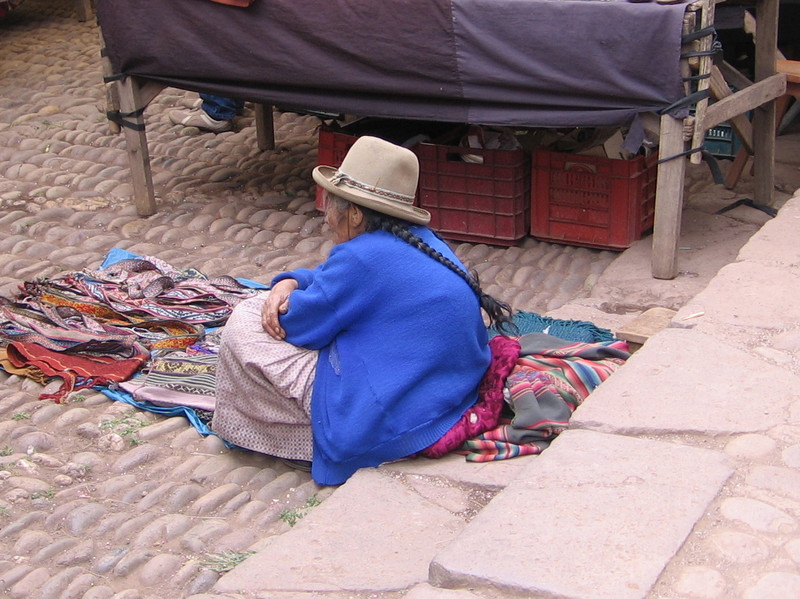 It's a great place for people watching and rather fascinating to see many of the local women in their long braids and typical dress which includes colorful skirts and tall hats.  It's not just a show for the tourists...