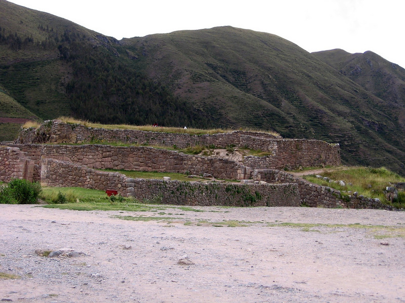 Puka Pukara (or Red Fort).  These Incan ruins are right outside of Cusco, on the road that leads to Pisac.