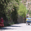 Looking back down the road towards our hotel.  The little 3-wheeled taxis were everywhere in the Sacred Valley towns.