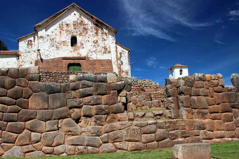 church built on inca foundation