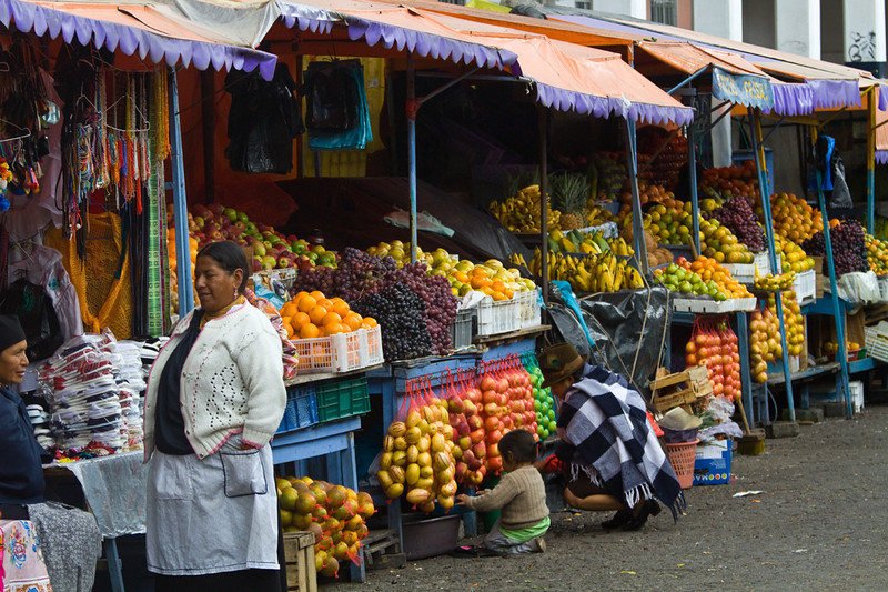 Otavalo market, food area.