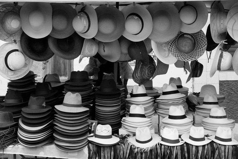 Panama and other hats ... Peruvians and Ecuadorians wear lots of hats.<br /> Also, little known fact that Panama hats originated in Ecuador.