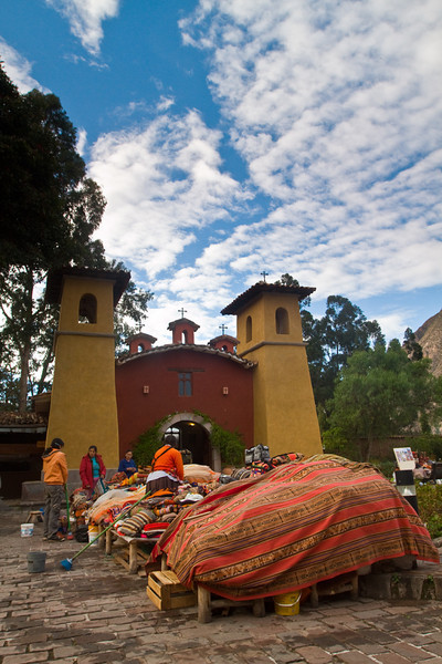 Early morning, getting ready for the tourists at the Hotel Sonesta Posada del Inca, Yucay in the Sacred Valley.