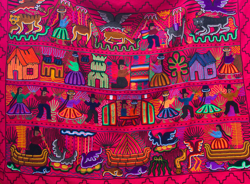 Ecuadorian story in colors - Otavalo market.