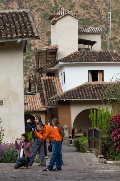 Tourists at Hotel Sonesta Posada del Inca