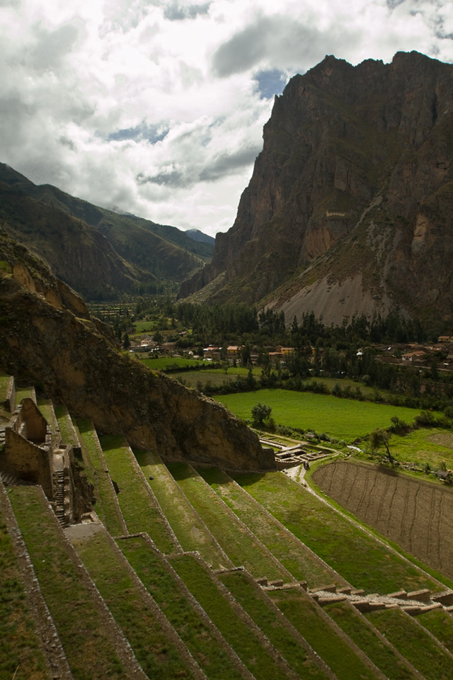 Ollantaytambo Inca archaeological site - remember the face?