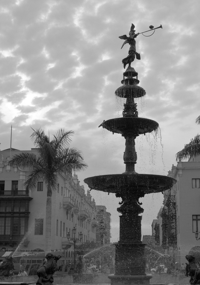 Fountain in the Historic Center of Lima
