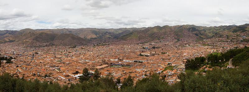 Panoramic view of Cusco