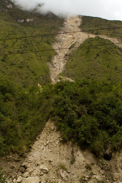 One of the mud slides
