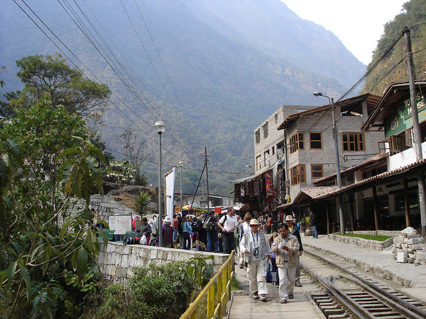 Town of Agua Caliente; train station for Machu Picchu