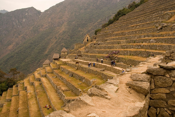 Incan terraces at Machu Picchu