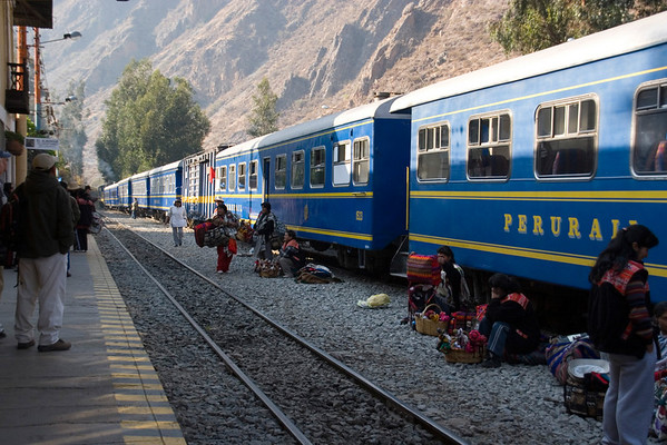 Ollanta train station in Ollantaytambo