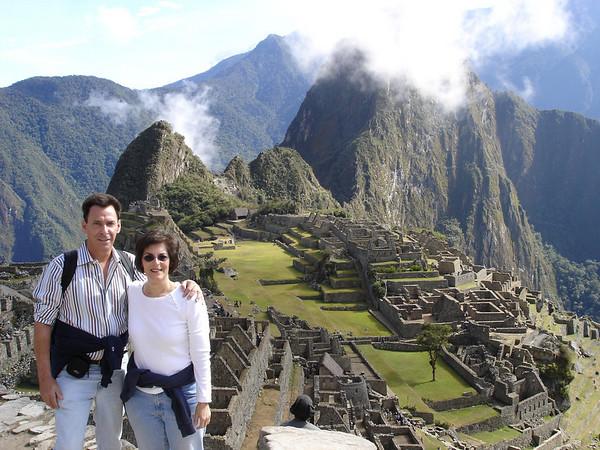 Cyndie & Richard at Machu Picchu guard house overlook