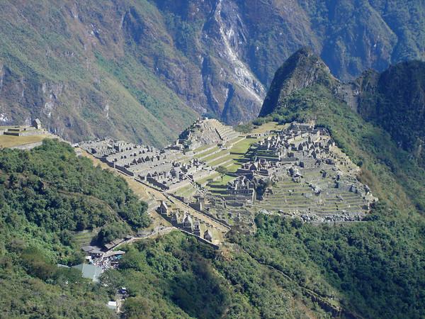 Machu Picchu; view from the Inca gate