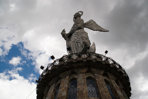 Winged Virgin on Panecillo Hill