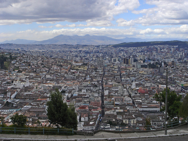 Quito as viewed from Panecillo Hill